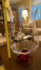 Large Glass Hurricane Candleholder in St. Charles, Illinois