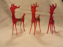 BEAUTIFUL RED BLOWN GLASS REINDEER - GERMANY   NEW! in Wheaton, Illinois