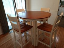 High Oak Table with matching chairs in Fort Belvoir, Virginia