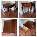 End Table w/ Drawer Cherry Finish Cabriole Leg in Batavia, Illinois
