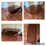 Drop-Leaf Coffee Table Cherry Finish Cabriole Leg in Batavia, Illinois