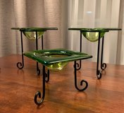 Green Glass Candle Holders in Plainfield, Illinois