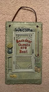 Backdoor Guests are Best Wall Sign, Indoor or Outdoor use in Plainfield, Illinois