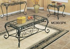 Glass coffee table and 2 end tables NEW in Kansas City, Missouri