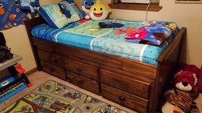 Wooden Trundle bed frame (2 bed frames) with storage drawers in Fort Polk, Louisiana