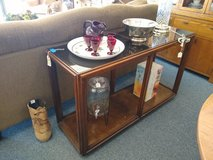 Wood Sofa Table with Smoke Glass Top in St. Charles, Illinois