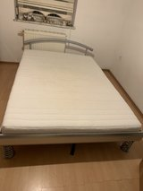 Bed 140x200cm with mattres in very good condition pets smoke free home l can deliver an build to... in Ramstein, Germany