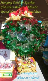 Brand New Handmade Holiday Holly design hanging Sparkle Ball in Hampton, Virginia