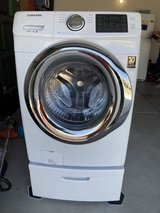 Samsung front load washer w/ stand in Camp Pendleton, California