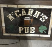 Stained Glass Lighted Bar Sign in Batavia, Illinois