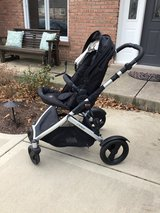 Britax double stroller base w/ toddler seat in Chicago, Illinois