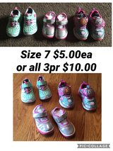 Size 7 toddler girl shoes in Chicago, Illinois
