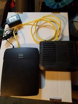 Cisco Linksys Wireless-N300 Router, and Modem Model E1200 NP v2 in Aurora, Illinois