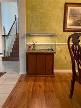 30 gallon Aquarium with wooden stand in Kingwood, Texas