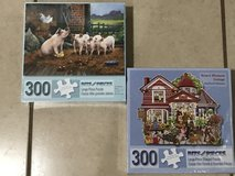 2 Brand New Puzzles by Bits and Pieces 300 Piece Sealed in Fairfield, California