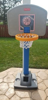 Basketball hoop in Naperville, Illinois