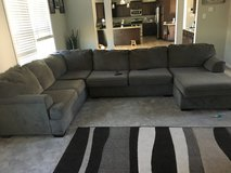 Gray Sectional Couch in Camp Lejeune, North Carolina