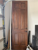 6 Panel Stained Interior Door 8 ft by 34 inches with lock in Oswego, Illinois