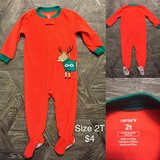 Carter's holiday fleece footed sleeper pajamas in St. Charles, Illinois