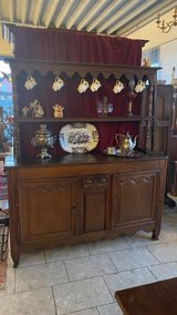 rustic 200 year old buffet with shelves on top in Spangdahlem, Germany