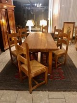 rustic tiger oak dining room set with 6 chairs in Spangdahlem, Germany