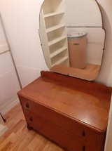 Antique small dresser with mirror in The Woodlands, Texas