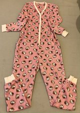 Pink Hello Kitty Print Fleece Onesie Pajama in Okinawa, Japan