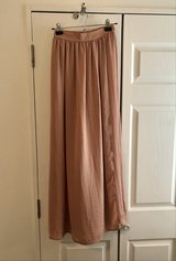 Blush/Nude Wrap Maxi Skirt in Okinawa, Japan