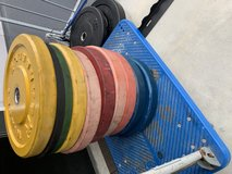 Weightlifting bumpers in Okinawa, Japan