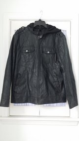 Helix Faux Leather Jacket - Size L in Glendale Heights, Illinois