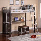 twin metal loft bed in Plainfield, Illinois