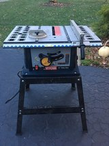 "Ryobi 10"" Table Saw with stand in St. Charles, Illinois"