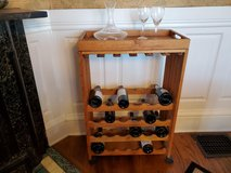 Crate & Barrel Wheeled Wine Cart w/Removable Serving Tray in Tacoma, Washington
