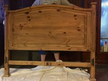 Wooden double headboard in Beaufort, South Carolina