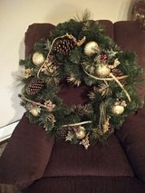 Christmas wreath in Beaufort, South Carolina