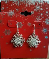 Snowflake Earrings, New in package in Yorkville, Illinois