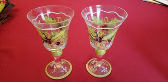 Set of 2 Hand Painted Zrike Glasses in Plainfield, Illinois