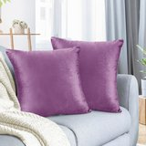 """Pack of 2 Velvet Throw Pillow Covers Decorative Soft Square Cushion Cover , 24"""" x 24"""" in Vacaville, California"""