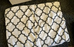 White & Gray Quatrefoil Print Pinched Pleat Pillow Case Set in Okinawa, Japan