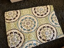 Green, Turquoise & Brown Medallion Print Standard Shower Curtain in Okinawa, Japan
