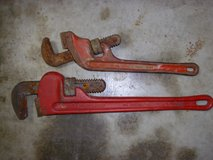"""two monkey wrenches 18"""" & 14"""" both made in usa in Fort Knox, Kentucky"""