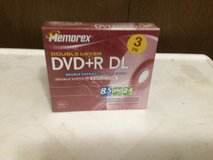 Memorex Double Layer DVD+R DL 3 Pack With Jewel Cases in Alamogordo, New Mexico
