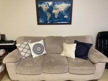 Couch, loveseat, and large ottoman set in Okinawa, Japan