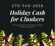 Cash for Junk vehicles in Clarksville, Tennessee