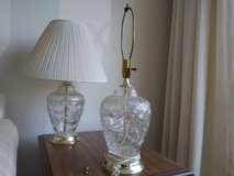 Glass Lamps (2) in Elgin, Illinois