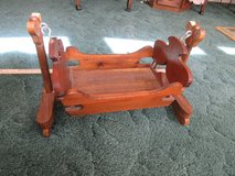 Sturdy all wood baby doll cradle - It Rocks in Conroe, Texas