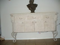 "Beautiful, elegant, wood and resin, iron hutch. 5F 6"" long x 3F 4"" high. in San Antonio, Texas"