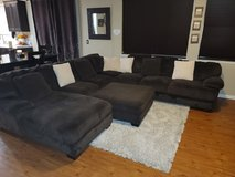 Ashley Furniture Dark Brown Sectional with Chaise in Vacaville, California