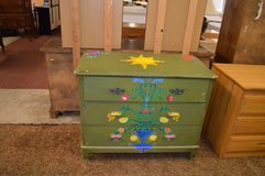 Hand painted all wood dresser in Fort Lewis, Washington