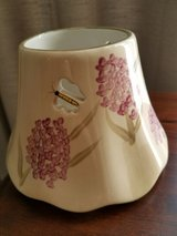 Cream Candle Shade with Lavender Flowers and Butterflies in Plainfield, Illinois